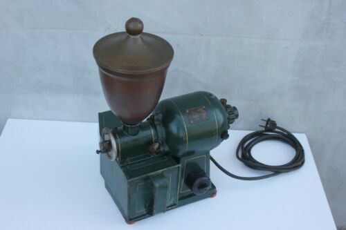 Antique 30s Electric Coffee Grinder Mill, Coffee Grinding Condition Coffee Shop