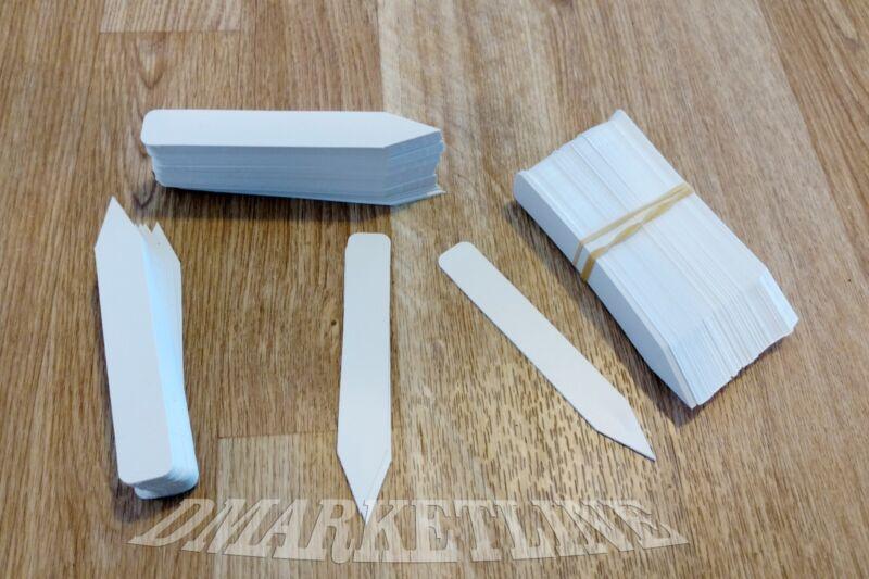 "100 Qty 4"" x 5/8 white plastic plant labels nursery stake tags"