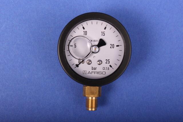 Afriso Öldruckmanometer 0-25bar Glyzerin Pumpenprüfkoffer Ölpumpe Ölbrennerpumpe