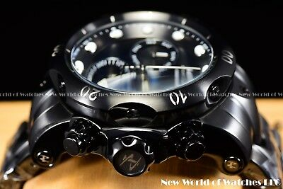 "New Invicta Mens 52mm Reserve Venom Swiss Chrono ""Black Ashes"" SS 1k Diver Watch"