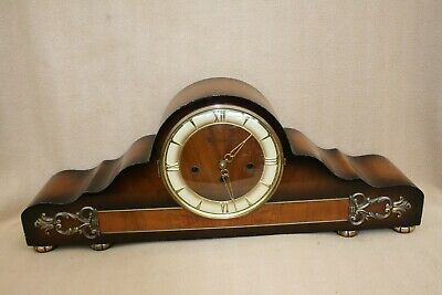 VERY LARGE IMPRESSIVE WESTMINSTER CHIME MANTEL CLOCK