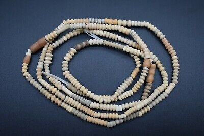 Ancient Egyptian Coptic period terracotta bead necklace C. 3rd - 4th century AD.