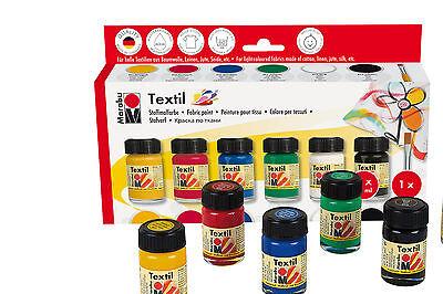 "Textilfarbe ""Textil"" Starter Set Marabu 6x15ml Stoffmalfarbe (11,00EUR/100ml)"