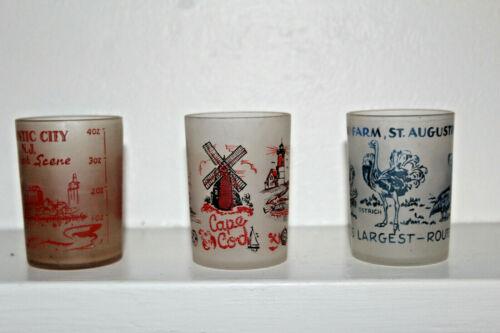 3 Hazel Atlas MCM 4 Ounce Shot Glasses