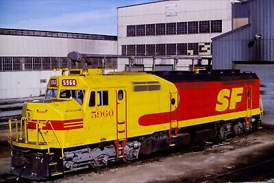 Original Slide Atchison Topeka & Santa Fe Railway ATSF 5960 Barstow, CA 1986