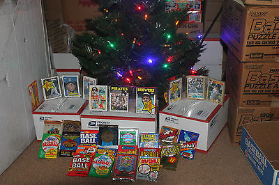 Great Christmas gift...  Unopened Vintage Baseball Cards. Huge Lot! - Baseball Christmas