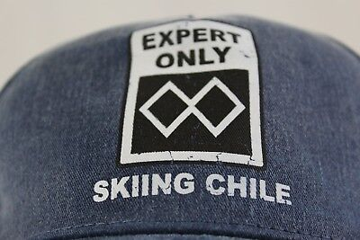 Skiing Chile' hat Double black diamond 'Experts Only' UNWORN w/ (Double Black Hat)