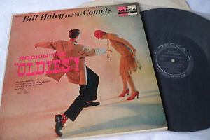 BILL-HALEY-1957-Original-1st-Press-Rockin-The-Oldies-LP-DECCA-DL-8569