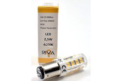 Glühbirne Riva Stecksockel B15 R22x63 220-235 Volt 25 Watt