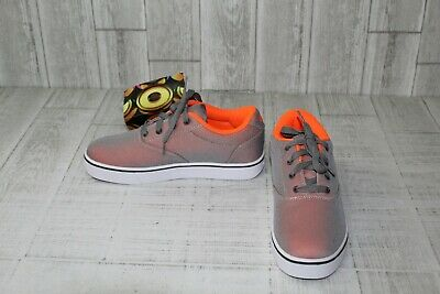 +Heelys Launch Skate Shoe - Men's Size 7, Orange/Charcoal