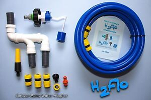Caravan Mains Water Adaptor for Aquaroll or WaterHog 10 metre Hose & RapiDrain
