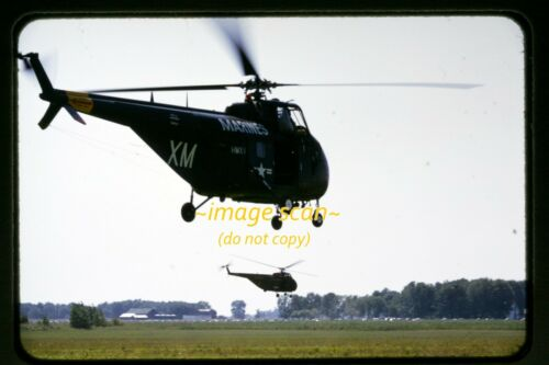Marines 129022 Sikorsky HRS-2 Helicopter at WPAFB in 1954, Original Slide e15a