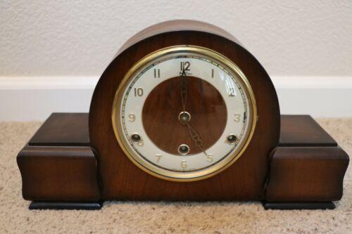 1955 BENTIMA WALNUT MANTEL CLOCK