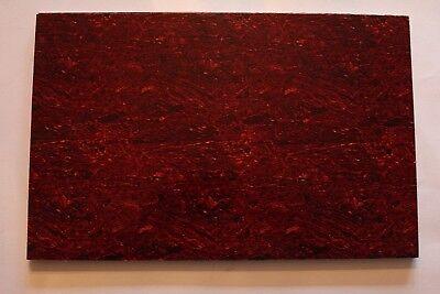 Tortoise intens TI Pickguard dunkler Schlagbrett Rohling Platte rot  45 x 29 cm