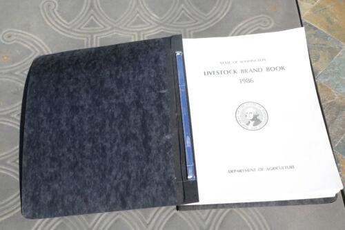 1986 Washington State Brand Book - Cattle Horse Ranch Livestock Brands