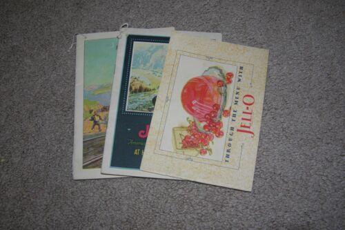 Vintage Three Jello Booklets, Advertising Menu Instructions, 1920