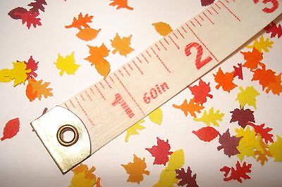 100 + Dollhouse 1:12 scale -  Miniature Fall Leaves  - Maple, Oak & Elm Trees