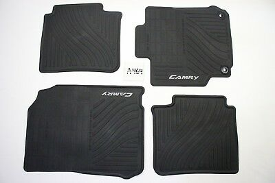 OEM ALL WEATHER BLACK FLOOR MATS SET 4 piece FRONT REAR 15 16 17 CAMRY