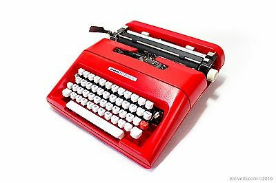 Black Friday Sale!!!Red OLIVETTI LETTERA 35- vintage serviced working typewriter