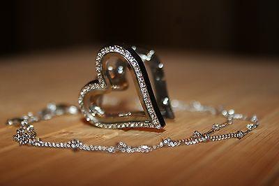 Living Locket Necklace Floating Charm Heart Pendant Crystal Starter Glass Memory