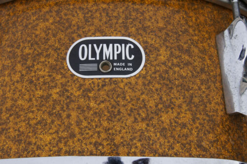Vintage Olympic snare drum snare drum orange drum