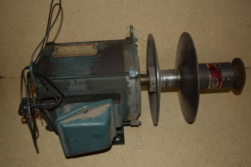 <RT> SOUTH BEND LATHE 14 FOURTEEN MOTOR W/RELIANCE VARIABLE DRIVE  (#2B)