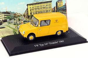 Volkswagen VW Typ 147 Fridolin Deutsche Bundespost Baujahr 1965 gelb 1:43 Atlas