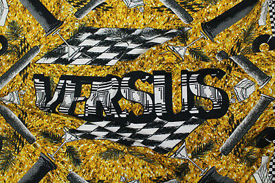 AUTHENTIC VERSACE MADE IN ITALY  PURE COTTON JERSEY FABRIC CENTIMETERS 200 X 150