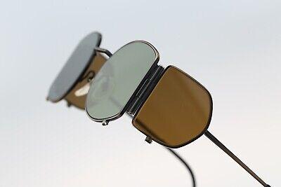 Jean Paul Gaultier 56-9172, Vintage 90s side shields steampunk round sunglasses