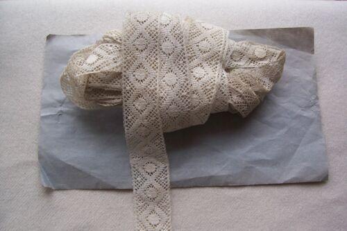 Antique Victorian Insertion Torchon Cotton Lace Trim 10 + yards