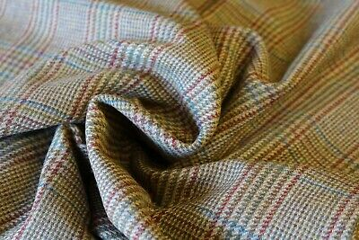 100% PURE WOOL FABRIC JOHNSTONS OF ELGIN   1  mtr Remnant Newmill Collection