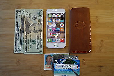 iphone X、6+、7+、8+ hand made leather case, sleeve pouch slim card & cash wallet
