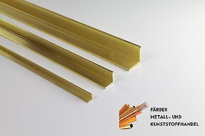 Messing Winkel Profil 30x30x3 mm / Länge 1000mm / CuZn43Pb2Al (MS56)