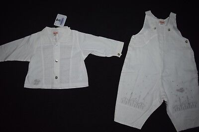 NWT Boys Baby Catimini 6M M 6 Months One Piece Sweater White 2 pc set outfit](M&m Outfits)