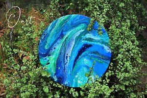 Original South Australian acrylic pour painting - blue Adelaide CBD Adelaide City Preview