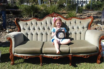 Vintage moss green chaise lounge  Coomera Gold Coast North Preview