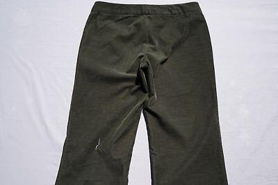 Theory Ultra Thin Wale Soft Wide Leg Corduroy Pants, Cords. Green, Women's 4 GUC Wide Leg Cord Pant