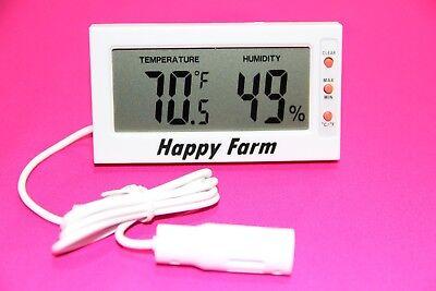 Digital Egg Incubator Thermometer Hygrometer Remote Sensor