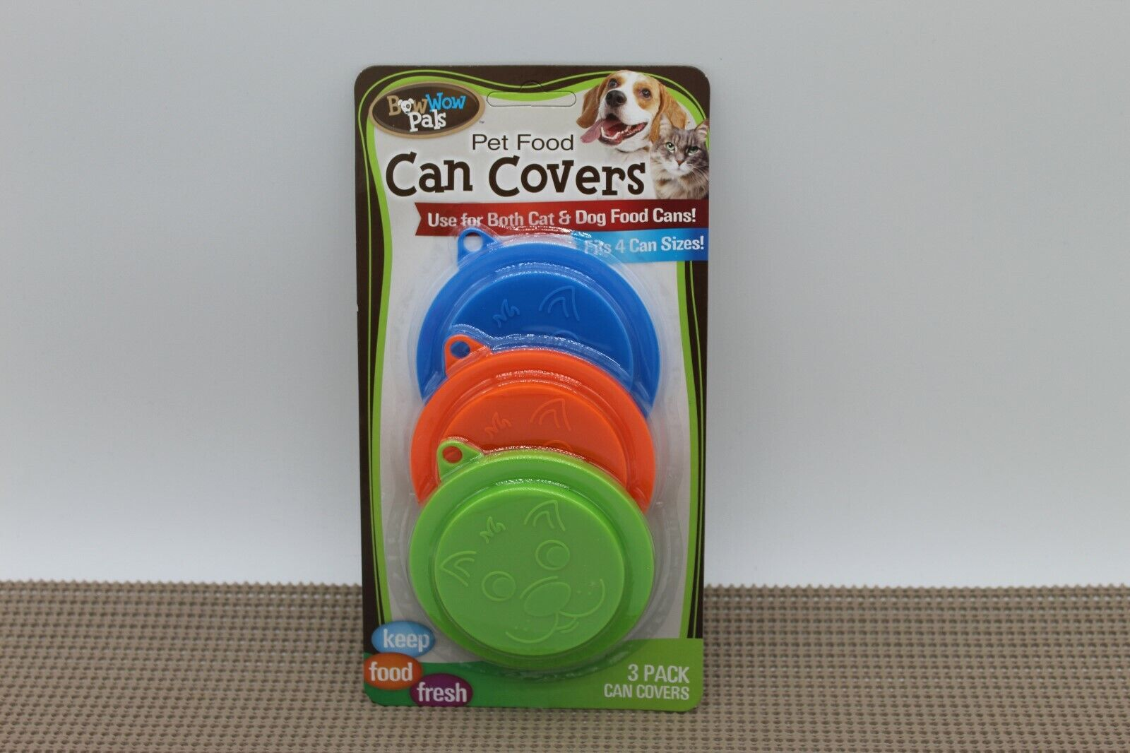 New Bow Wow Pet Food Can Covers, 3-Pack