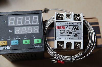 Dual Digital Fc Pid Thermostat Temperature Controller Ta7-snrk Sensor 25a Ssr