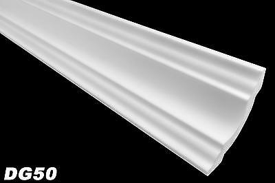 50 Meter Stuckleiste Dekorleiste Eckleiste Stuck Hart Styropor 50x50mm, DG50