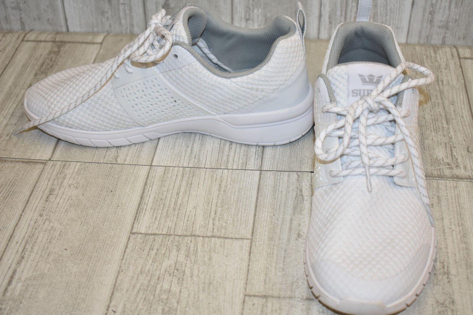 Supra Scissor Lace Up Mens Casual Running Trainers White 05669 101 U95