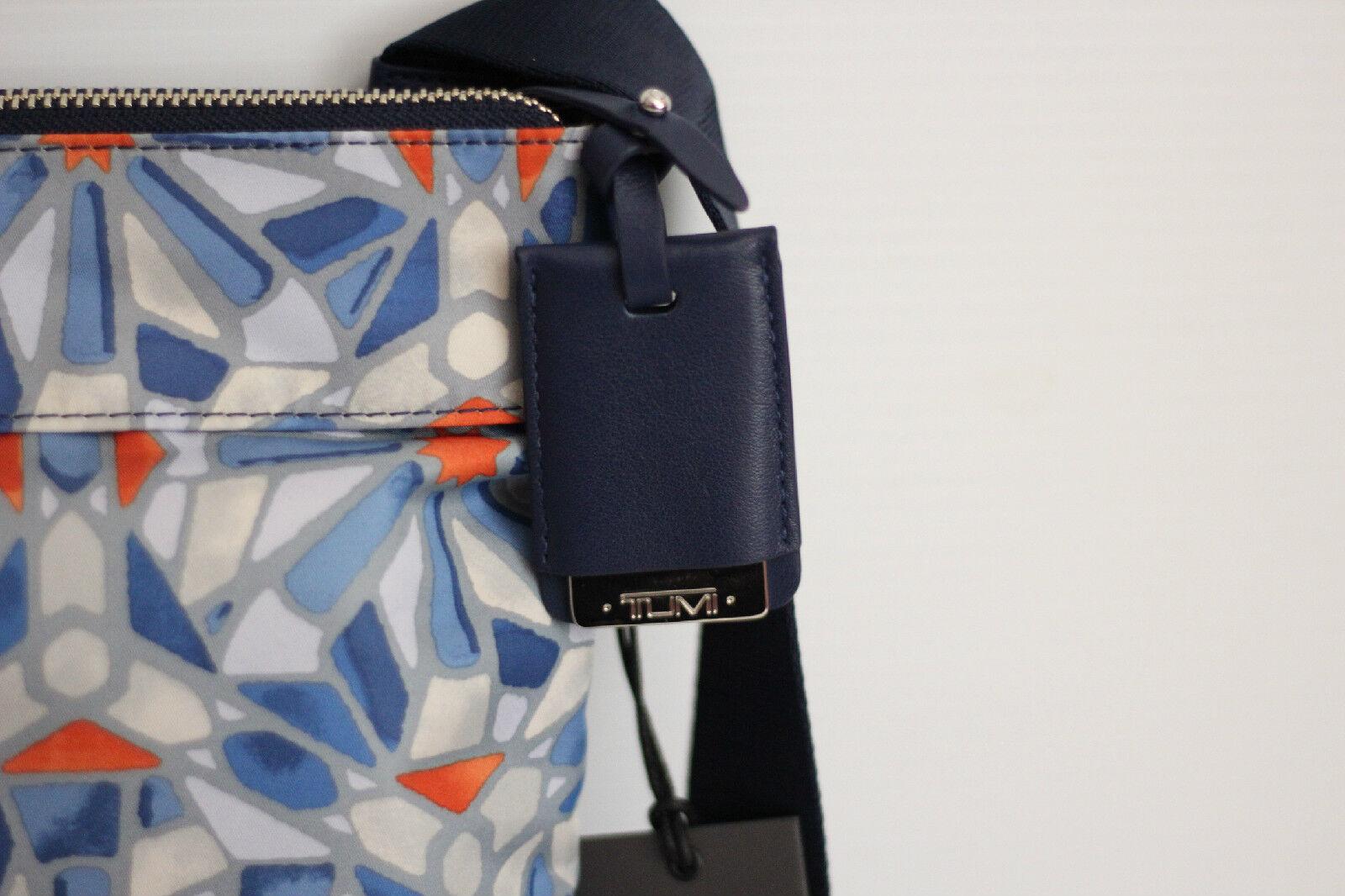 New Tumi Voyageur 'Calera' Crossbody Messenger Bag - Blue Cayenne Tile Print