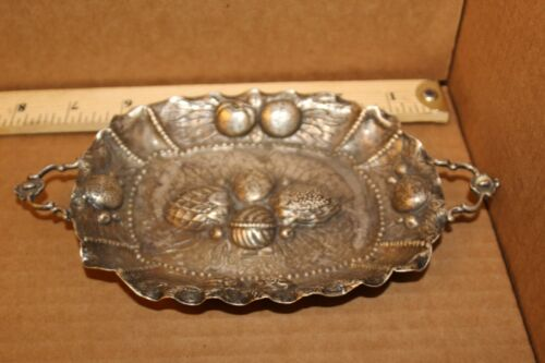"""Vintage/Antique """"New Orleans Silversmiths MC"""" Sterling Silver Hand Wrought Tray"""