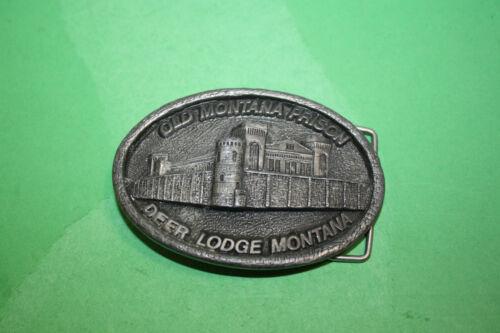 "Deer Lodge Old Montana Prison Belt Buckle 3 1/2"""