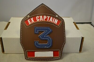 Cairns Ex-captain Brown Leather Helmet Fronts W Blue 3