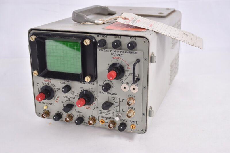 Vintage AN USM  117C Military Oscilloscope Western Electric Era Test Equipment