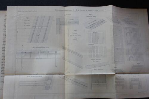 1864 Fachbericht Zeitschrift Bergbau / Steinkohle Saonne Loire Allier 12 Seiten