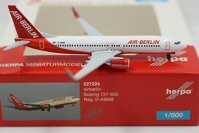 Herpa Wings 1:500 Air Berlin Boeing 737-800 (527224) Limited Edition