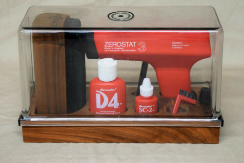 DiscWasher D4 Record Care / Cleaning Set w/ ZEROSTAT 3 In Original Case